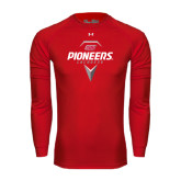 Under Armour Red Long Sleeve Tech Tee-Pioneers Geometric Lacrosse Head
