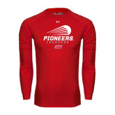 Under Armour Red Long Sleeve Tech Tee-Pioneers Lacrosse Modern