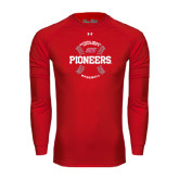 Under Armour Red Long Sleeve Tech Tee-Pioneers Baseball Seams