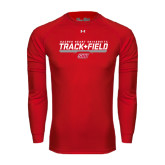Under Armour Red Long Sleeve Tech Tee-Track & Field w/ Bar