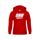 Youth Red Fleece Hoodie-Hockey