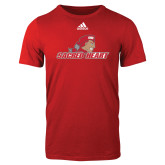 Adidas Red Logo T Shirt-Sacred Heart w/ Pioneer