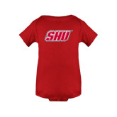 Red Infant Onesie-Primary Logo