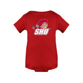 Red Infant Onesie-Secondary Logo