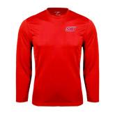 Performance Red Longsleeve Shirt-Primary Logo
