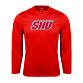Syntrel Performance Red Longsleeve Shirt-Primary Logo