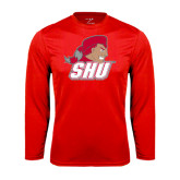 Syntrel Performance Red Longsleeve Shirt-Secondary Logo