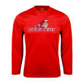 Syntrel Performance Red Longsleeve Shirt-Sacred Heart w/ Pioneer