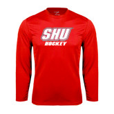 Syntrel Performance Red Longsleeve Shirt-Hockey
