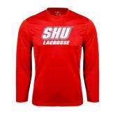 Performance Red Longsleeve Shirt-Lacrosse