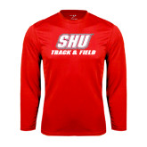 Syntrel Performance Red Longsleeve Shirt-Track & Field