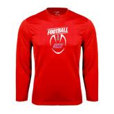 Syntrel Performance Red Longsleeve Shirt-SHU Football