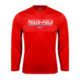 Syntrel Performance Red Longsleeve Shirt-Track & Field w/ Bar