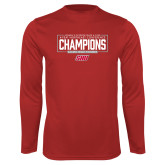 Performance Red Longsleeve Shirt-2018 Womens Outdoor Track and Field Champions