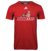 Adidas Climalite Red Ultimate Performance Tee-Pioneers w/ Pioneer