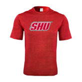 Performance Red Heather Contender Tee-Primary Logo