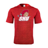 Performance Red Heather Contender Tee-Secondary Logo