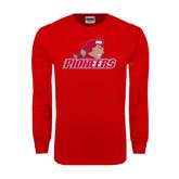 Red Long Sleeve T Shirt-Pioneers w/ Pioneer