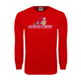 Red Long Sleeve T Shirt-Sacred Heart w/ Pioneer