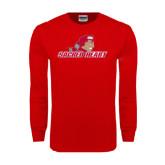 Red Long Sleeve T Shirt-Sacred Heart w/ Pioneer