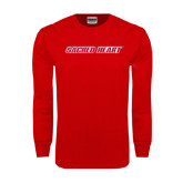 Red Long Sleeve T Shirt-Sacred Heart