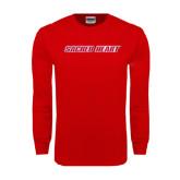 Red Long Sleeve T Shirt-Sacred Heart