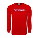Red Long Sleeve T Shirt-Pioneers