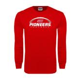 Red Long Sleeve T Shirt-Pioneers Football Horizontal