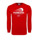Red Long Sleeve T Shirt-Pioneers Lacrosse Modern