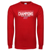 Red Long Sleeve T Shirt-2018 Womens Outdoor Track and Field Champions