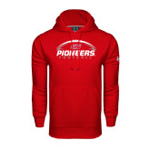 Under Armour Red Performance Sweats Team Hoodie-Pioneers Football Horizontal