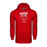 Under Armour Red Performance Sweats Team Hoodie-SHU Football