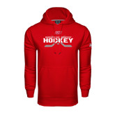 Under Armour Red Performance Sweats Team Hoodie-SHU Hockey Crossed Sticks
