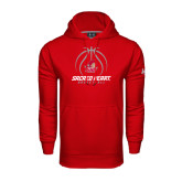 Under Armour Red Performance Sweats Team Hoodie-Sacred Heart Basketball Stacked