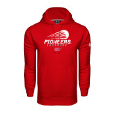 Under Armour Red Performance Sweats Team Hoodie-Pioneers Lacrosse Modern