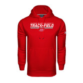 Under Armour Red Performance Sweats Team Hoodie-Track & Field w/ Bar