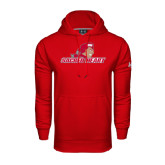 Under Armour Red Performance Sweats Team Hoodie-Sacred Heart w/ Pioneer