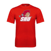 Performance Red Tee-Secondary Logo