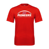 Syntrel Performance Red Tee-Pioneers Football Horizontal