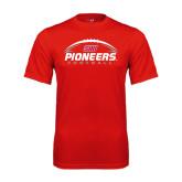 Performance Red Tee-Pioneers Football Horizontal