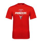 Syntrel Performance Red Tee-Pioneers Geometric Lacrosse Head