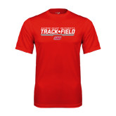 Syntrel Performance Red Tee-Track & Field w/ Bar