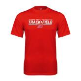 Performance Red Tee-Track & Field w/ Bar