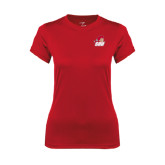 Ladies Syntrel Performance Red Tee-Secondary Logo