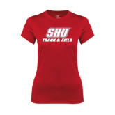 Ladies Syntrel Performance Red Tee-Track & Field