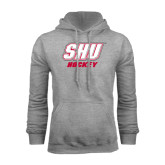Grey Fleece Hoodie-Hockey
