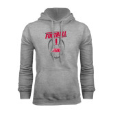 Grey Fleece Hoodie-SHU Football