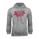 Grey Fleece Hoodie-Sacred Heart Hockey Slanted w/ Banner