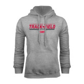 Grey Fleece Hoodie-Track & Field w/ Bar