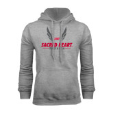 Grey Fleece Hoodie-Sacred Heart Track & Field Abstract Wings